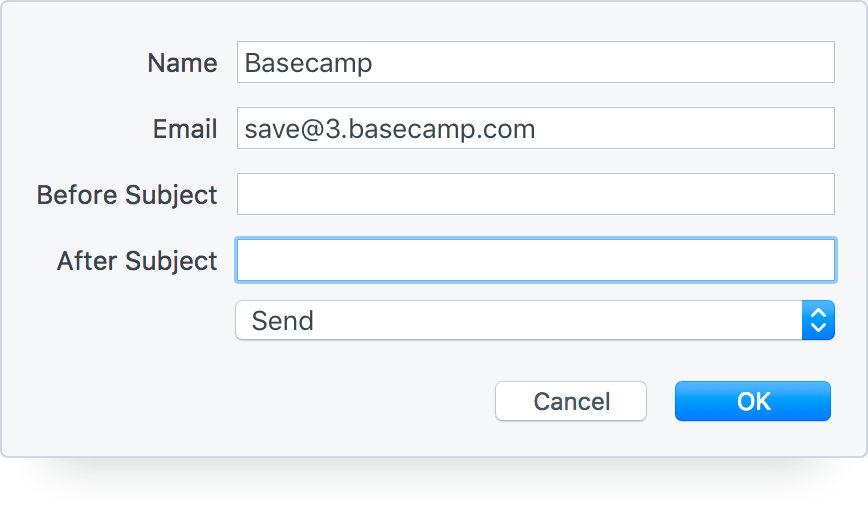 Share Emails in Basecamp 3