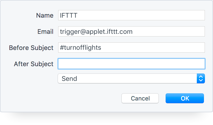 Trigger an IFTTT Applet with an Email