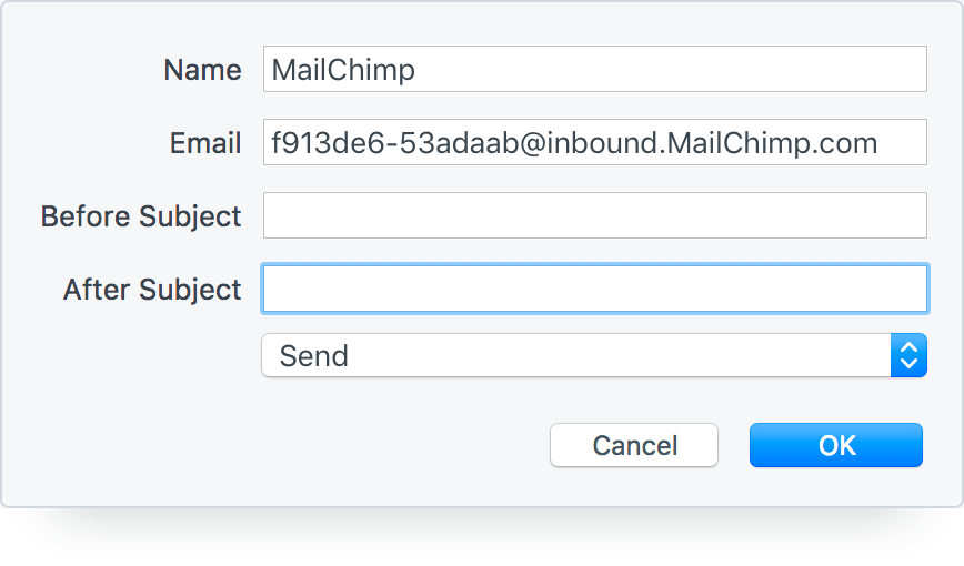 Create a MailChimp Campaign from an Email