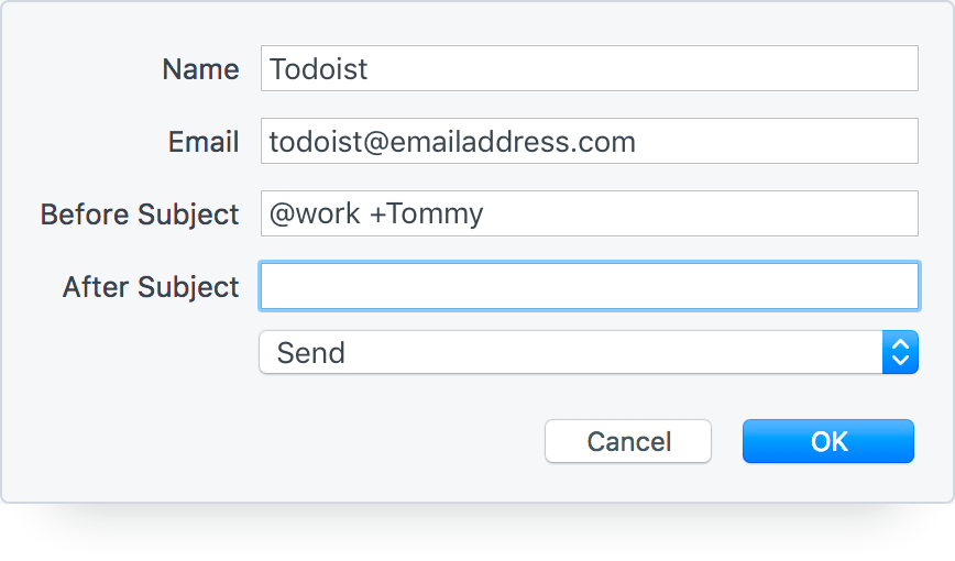 Turn Emails into Todoist Tasks