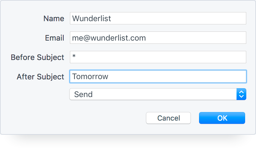 Turn Emails into Wunderlist Tasks