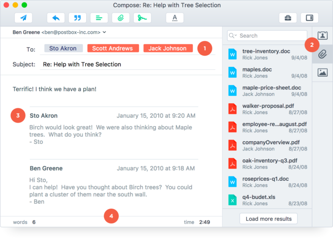 See why Postbox is the best email client for Mac and PC